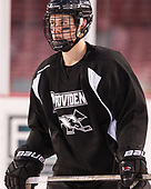 Jacob Bryson (PC - 18) - The Providence College Friars practiced on the rink at Fenway Park on Friday, January 6, 2017.
