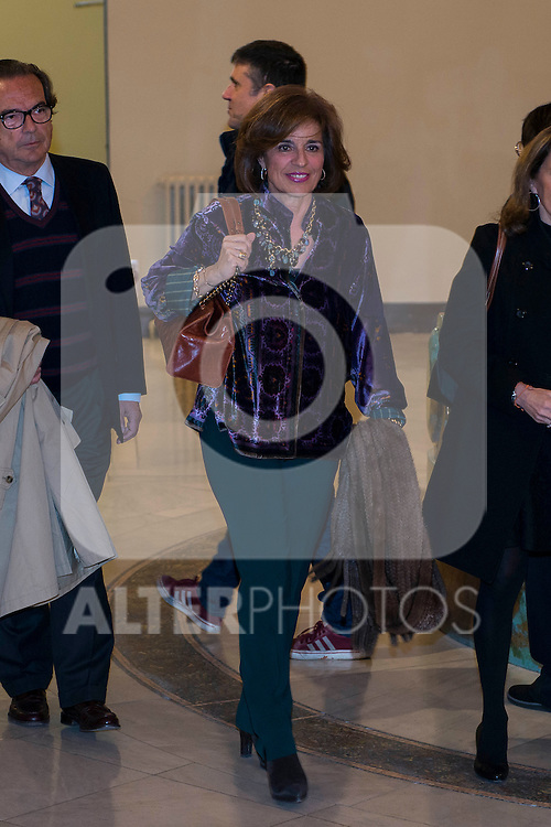 "Ex Mayor Madrid Ana Botella attends to the presentation of the last book of the Peruvian writer Mario Vargas Llosa ""Cinco Esquinas"" at CBA Madrid March 07, 2016. (ALTERPHOTOS/BorjaB.Hojas)"