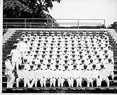 Ann Arbor, MI - FILE --  Gerald R. Ford with a large group of naval officers, Chapel Hill, North Carolina. (Ford is circled in the fifth row from the front) Date: ca. 1943<br /> Credit: Courtesy Gerald R. Ford Library via CNP