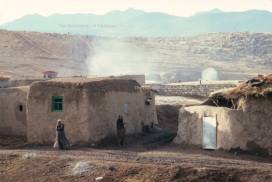 Iran 1979.Morning in a Kurdish village