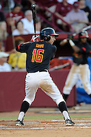 Second baseman Brandon Lowe (16) of the Maryland Terrapins in an NCAA Division I Baseball Regional Tournament game against the South Carolina Gamecocks on Sunday, June 1, 2014, at Carolina Stadium in Columbia, South Carolina. Maryland won, 10-1, to win the tournament. (Tom Priddy/Four Seam Images)
