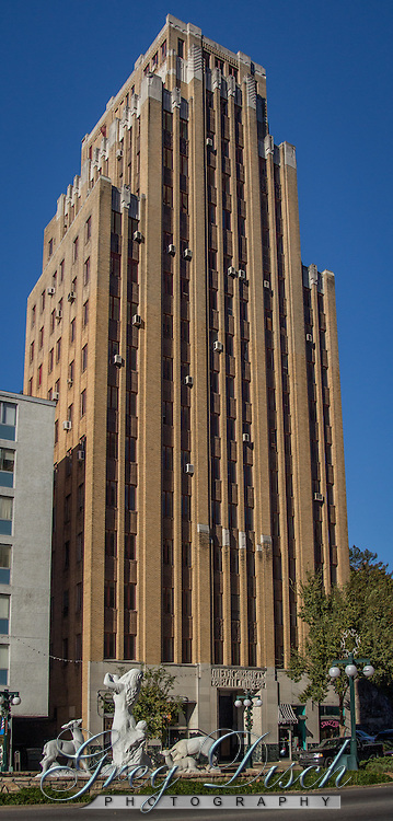 The Medical Arts Building is abandoned excepts for the ground level which is occupied by retail businesses on Central Ave.  The Medical Arts Building in Hot Springs, AR,built in 1929, was the tallest building in Arkansas until 1960. Built to house medical offices, it stands 16 stories high and rises to 180 feet above the street.<br /> <br /> It was listed on the National Register of Historic Places in 1978.