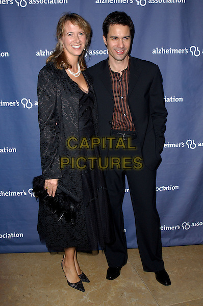 "ERIC MCCORMACK   & WIFE  .The Alzheimer's Association's 12th Annual ""A Night at Sardi's"" Celebrity Fundraiser held at The Beverly Hilton Hotel in Beverly Hills, California .04 March 2004.*UK Sales Only*.full length, full-length .www.capitalpictures.com.sales@capitalpictures.com.©Capital Pictures."