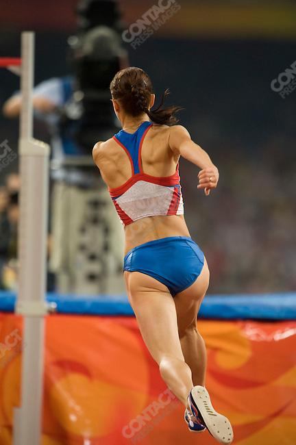 Women's High Jump final, Elena Slesarenko (Russia), National Stadium, Summer Olympics, Beijing, China, August 23, 2008