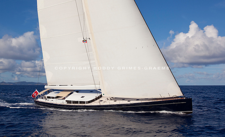 Yacht Cinderella IV brochure photography in Antigua, Caribbean in 2012. Shot by Roddy Grimes-Graeme for Superyacht Media.