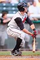 August 10, 2009: Brendan Katin of the Nashville Sounds, Pacific Cost League Triple A affiliate of the Milwaukee Brewers, during a game at the Spring Mobile Ballpark in Salt Lake City, UT.  Photo by:  Matthew Sauk/Four Seam Images