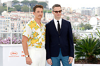 Miles Teller and Nicolas Winding Refn at the 'Too Old to Die Young' photocall during the 72nd Cannes Film Festival at the Palais des Festivals on May 18, 2019 in Cannes, France