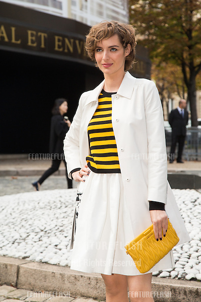 Louise Bourgoin attend Miu Miu Show Front Row - Paris Fashion Week  2016.<br /> October 7, 2015 Paris, France<br /> Picture: Kristina Afanasyeva / Featureflash