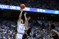 CHAPEL HILL, NC - MARCH 03: Cole Anthony #2 of the University of North Carolina shoots the ball during a game between Wake Forest and North Carolina at Dean E. Smith Center on March 03, 2020 in Chapel Hill, North Carolina.