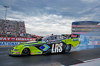Jul 19, 2020; Clermont, Indiana, USA; NHRA funny car driver Tim Wilkerson during the Summernationals at Lucas Oil Raceway. Mandatory Credit: Mark J. Rebilas-USA TODAY Sports