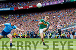 Killian Spillane, Kerry in action against Brian Howard, Dublin during the GAA Football All-Ireland Senior Championship Final match between Kerry and Dublin at Croke Park in Dublin on Sunday.