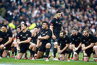 Photo: Richard Lane/Richard Lane Photography. England v New Zealand. QBE Autumn International. 08/11/2014. New Zealand haka.
