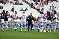 West Ham warm up during West Ham United vs Everton, Premier League Football at The London Stadium on 13th May 2018