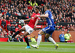 Marcus Rashford of Manchester United in action with Gary Cahill of Chelsea during the English Premier League match at Old Trafford Stadium, Manchester. Picture date: April 16th 2017. Pic credit should read: Simon Bellis/Sportimage