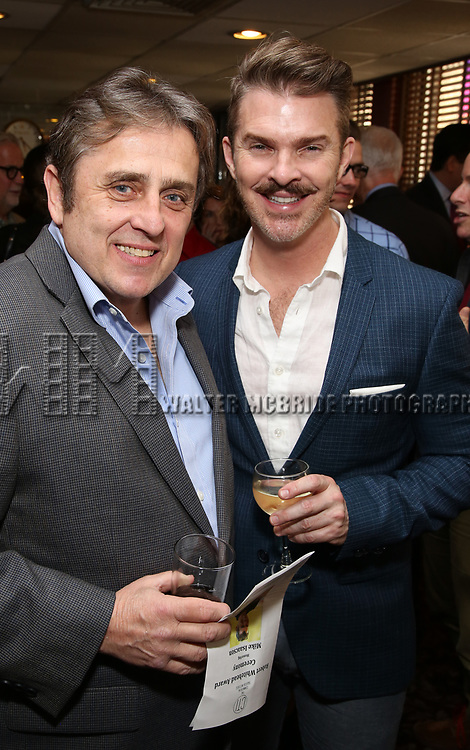 Michael McCormick and Denis Jones attends the The Robert Whitehead Award presented to Mike Isaacson at Sardi's on May 10, 2017 in New York City.