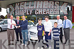 NEW CAR: Tim Kelliher presenting Kerry's Darren O'Sullivan the keys to his new Toyota Avensis Aura at Kelliher's Toyota dealers, Tralee on Friday l-r; Tim Kelliher, Dermot Lynch, Darren O'Sullivan, Timothy, Aisling and John Kelliher, Tom O'Connor, Jerry O'Sullivan.
