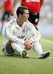 Real Madrid's Cristiano Ronaldo reacts during La Liga match. May 13, 2012. (ALTERPHOTOS/Alvaro Hernandez)