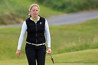 Anna Foster (Elm Park) on the 1st green during Round 1 of the Women's Amateur Championship at Royal County Down Golf Club in Newcastle Co. Down on Tuesday 11th June 2019.<br />