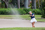 HOWEY IN THE HILLS, FL - MAY 11: Ziyi Wang of Carleton hits from the bunker during the Division III Women's Golf Championship. CollegeThe Claremont Mudd Scripps won the team and individual (Margaret Loncki) First Place Championships during the Division III Women's Golf Championship held at the Mission Inn Resort & Club on May 11, 2018 in Howey-In-The-Hills, Florida. (Photo by Matt Marriott/NCAA Photos via Getty Images)
