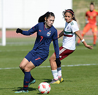 20190301 - LARNACA , CYPRUS : Thai Silawan Intamee pictured during a women's soccer game between Thailand and Mexico , on Friday 1 March 2019 at the GSZ Stadium in Larnaca , Cyprus . This is the second game in group B for both teams during the Cyprus Womens Cup 2019 , a prestigious women soccer tournament as a preparation on the FIFA Women's World Cup 2019 in France . PHOTO SPORTPIX.BE | DAVID CATRY
