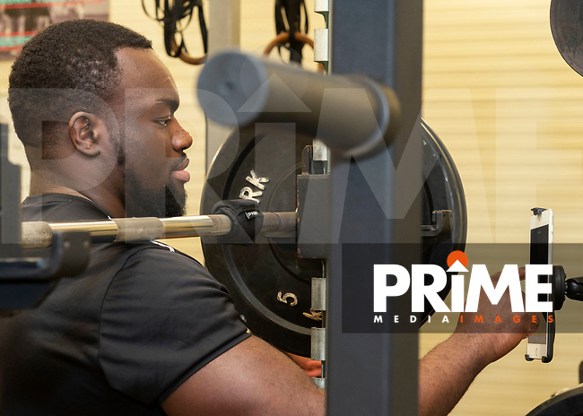 during the London Broncos Press Day at Trailfinders Sports Ground, Ealing, England on 23 January 2019. Photo by Vince  Mignott / PRiME Media Images.