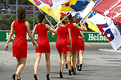 June 11th 2017, Circuit Gilles Villeneuve, Montreal Quebec, Canada; Formula One Grand Prix, Race Day. Grid girls