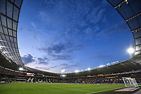 A general view of the KCOM Stadium, home of Hull City<br /> <br /> Photographer Dave Howarth/CameraSport<br /> <br /> The Premier League - Hull City v Blackburn Rovers - Tuesday August 20th 2019  - KCOM Stadium - Hull<br /> <br /> World Copyright © 2019 CameraSport. All rights reserved. 43 Linden Ave. Countesthorpe. Leicester. England. LE8 5PG - Tel: +44 (0) 116 277 4147 - admin@camerasport.com - www.camerasport.com
