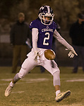 Spanish Springs Cougars Colby Melton (2)  punts against Manogue on Friday night, November 9, 2018 at Spanish Springs High School in Sparks, Nevada.