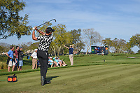 Danny Willett (ENG) watches his tee shot on 7 during round 2 of the Arnold Palmer Invitational at Bay Hill Golf Club, Bay Hill, Florida. 3/8/2019.<br />