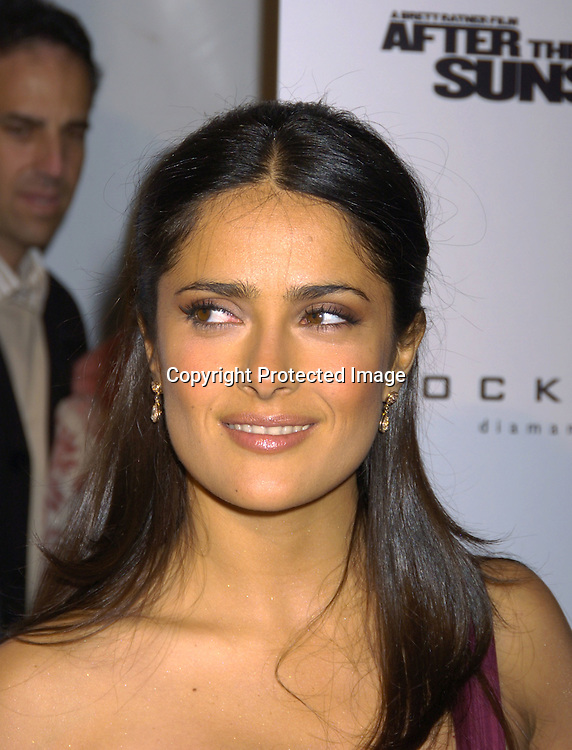 """Salma Hayek ..at The New York Premiere of """"After The Sunset"""" on ..November 9, 2004 at The Ziegfeld Theatre.  The screening benefitted The New York City Office to Combat Domestic ..Violence in cooperation with the Kings County District Attorney's Office.                                                                Photo by Robin Platzer, Twin Images"""