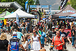 People explore vendors during the Epic Rides' Inaugural Carson City Off-Road event on Saturday, June 18, 2016 in Carson City, Nev.<br />
