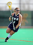 9 April 2008: University of New Hampshire Wildcats' Attackman Moira Talbot, a Senior from Marblehead, MA, in action against the University of Vermont Catamounts at Moulton Winder Field, in Burlington, Vermont. The Catamounts rallied to defeat the visiting Wildcats 9-8 in America East divisional play...Mandatory Photo Credit: Ed Wolfstein Photo