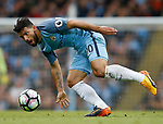 Sergio Aguero of Manchester City in action during the English Premier League match at the Etihad Stadium, Manchester. Picture date: May 16th 2017. Pic credit should read: Simon Bellis/Sportimage