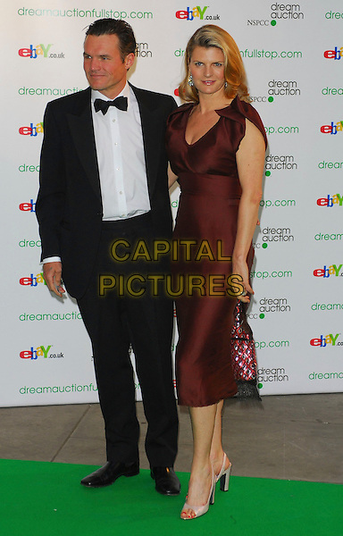 SUSANNAH CONSTANTINE.At the Dream Auction Full Stop - VIP Party, primarily to launch children's charity NSPCC's There4Me online sevice. Held at the Royal Albert Hall, London, UK..May 9th 2006.Ref: CAN.full length black tuxedo burgundy satin dress.www.capitalpictures.com.sales@capitalpictures.com.©Capital Pictures