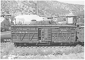 RGS stock car #7301 in Durango with &quot;Home for repairs&quot; marker.<br /> RGS  Durango, CO