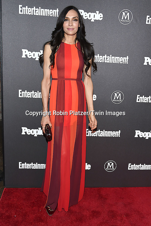 Famke Janssen attends the Entertainment Weekly &amp; PEOPLE Magazine New York Upfronts Celebration on May 16, 2016 at Cedar Lake in New York, New York, USA.<br /> <br /> photo by Robin Platzer/Twin Images<br />  <br /> phone number 212-935-0770
