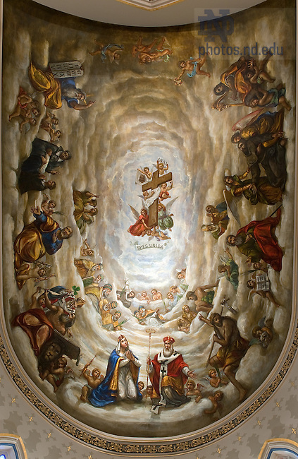 Ceiling in the Lady Chapel of the Basilica of the Sacred Heart..Photo by Matt Cashore/University of Notre Dame