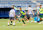 David Simon (RC Deportivo de la Coruna) warms up before La Liga Smartbank match round 39 between Malaga CF and RC Deportivo de la Coruna at La Rosaleda Stadium in Malaga, Spain, as the season resumed following a three-month absence due to the novel coronavirus COVID-19 pandemic. Jul 03, 2020. (ALTERPHOTOS/Manu R.B.)