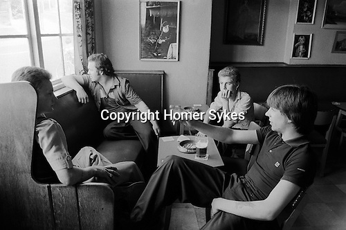 South Kirkby Colliery Yorkshire England. 1979. Young miners pit village pub.