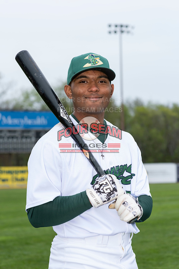 Beloit Snappers infielder Cobie Vance (7) poses for a photo before a Midwest League game against the Lake County Captains at Harry C. Pohlman Field on May 8, 2019 in Beloit, Wisconsin. (Zachary Lucy/Four Seam Images)
