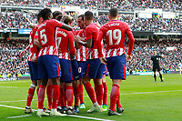 Atletico de Madrid's players celebrate goal during La Liga match. April 8,2018. (ALTERPHOTOS/Acero) /NortePhoto NORTEPHOTOMEXICO