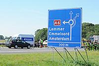 ALGEMEEN: JOURE: Aanrijding voor rotonde Joure, ©foto Martin de Jong