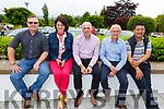 Chris Howarth, Caroline Leahy, Fergus O'Mara, Sean Stack and Lei Zhang at the Dairymaster 50th Anniversary BBQ in the Ballygarry Hotel on Sunday.