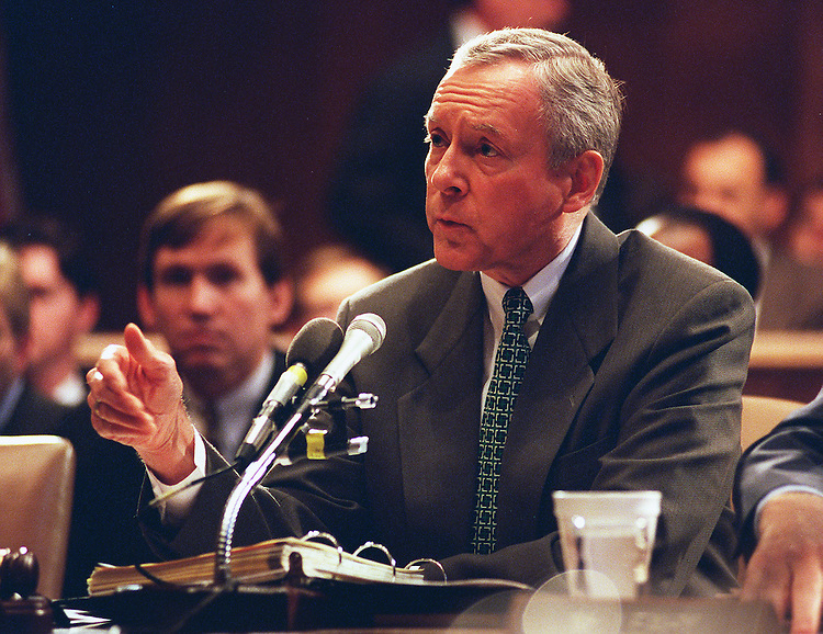 11/6/97.NOMINATION VOTE:Chairman Orrin G. Hatch,R-Utah, makes his opening statement during the  Senate Judiciary Committee on the pending nomination of Bill Lan Lee for Civil Rights Director..CONGRESSIONAL QUARTERLY PHOTO BY DOUGLAS GRAHAM