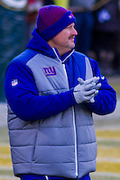 New York Giants head coach Bob McAdoo prior to a game against the Green Bay Packers on January 8th, 2017 at Lambeau Field in Green Bay, Wisconsin.  Green Bay defeated New York 38-13. (Brad Krause/Krause Sports Photography)
