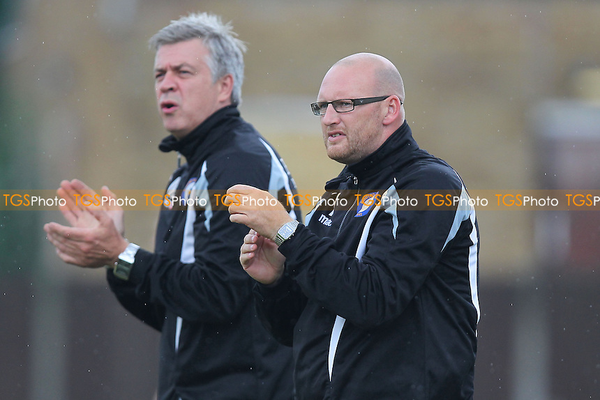 Romford manager Paul Martin (R) and assistant Mark Lord - Aveley vs Romford - Ryman League Division One North Football at Mill Field, Aveley, Essex - 24/08/13 - MANDATORY CREDIT: Gavin Ellis/TGSPHOTO - Self billing applies where appropriate - 0845 094 6026 - contact@tgsphoto.co.uk - NO UNPAID USE