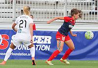 Boyds, MD - Saturday July 02, 2016: Estefania Banini, Katie Bowen during a regular season National Women's Soccer League (NWSL) match between the Washington Spirit and FC Kansas City at Maureen Hendricks Field, Maryland SoccerPlex.