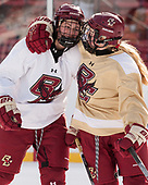 Serena Sommerfield (BC - 3), Molly Slowe (BC - 14) - The Boston College Eagles practiced at Fenway on Monday, January 9, 2017, in Boston, Massachusetts.Serena Sommerfield (BC - 3), Molly Slowe (BC - 14) - The Boston College Eagles practiced at Fenway on Monday, January 9, 2017, in Boston, Massachusetts.