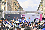 Groupama-FDJ at sign on in Cuneo before Stage 12 of the 2019 Giro d'Italia, running 158km from Cuneo to Pinerolo, Italy. 23rd May 2019<br /> Picture: Massimo Paolone/LaPresse | Cyclefile<br /> <br /> All photos usage must carry mandatory copyright credit (© Cyclefile | Massimo Paolone/LaPresse)