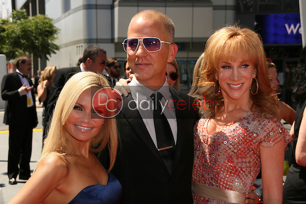Kristin Chenoweth, Ryan Murphy and Kathy Griffin<br /> at the 2010 Primetime Creative Arts Emmy Awards,  Nokia Theater L.A. Live, Los Angeles, CA. 08-21-10<br /> David Edwards/DailyCeleb.com 818-249-4998